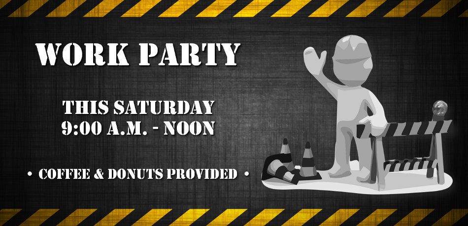 There will be a work party here at our church Saturday, October 5th, from 9:00 a.m. to noon.